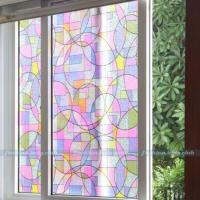 1.5M/2M Removable Home Office Privacy Decorative Stained ...