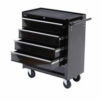 Rolling Toolbox 5 Drawers Lock Storage Tool Cabinet Chest ...