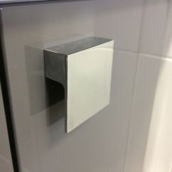 Kitchen Cabinet Materials Designs Layouts Polished Chrome 60mm Square L Shape Pull Knob ...