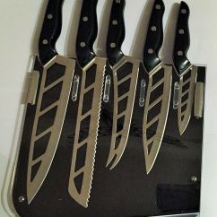 Global Kitchen Knives Rug Runner Ming Tsai Aero Knife Set Of 5- Five With Smart Stand ...