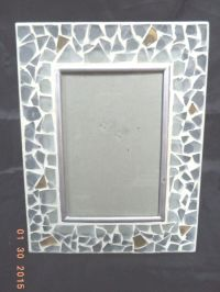 "NIB ~ MOSAIC GLASS TILED PHOTO / PICTURE FRAME ~ 4"" x 6 ..."