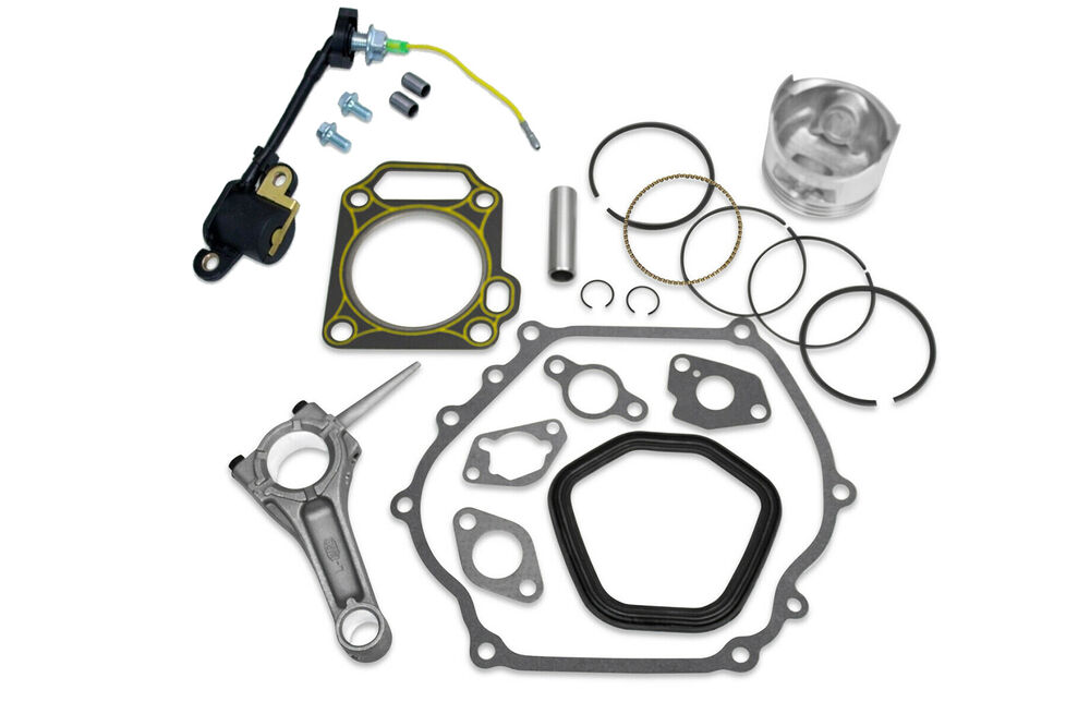 PISTON KIT WITH PIN RINGS CONNECTING ROD FULL GASKET KIT
