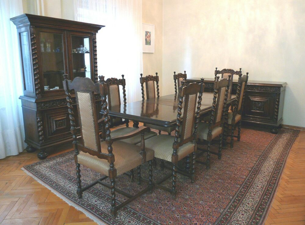 Hand Made Italian Unique Dining Set From Early 1900 EBay