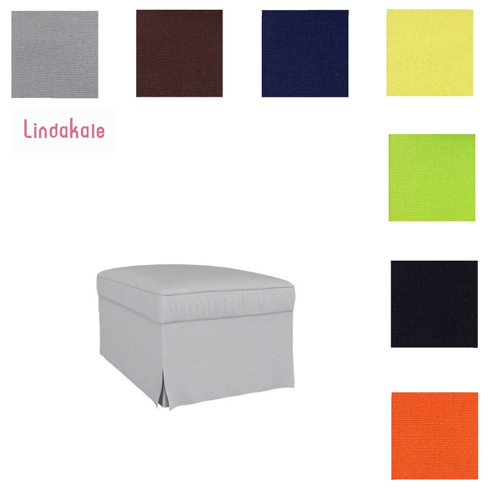 ikea chair covers ebay walmart patio lounge chairs custom made cover fits ektorp footstool, replace ottoman cover, 39 fabrics |