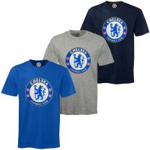 Chelsea Football Club Official Soccer Mens Crest T
