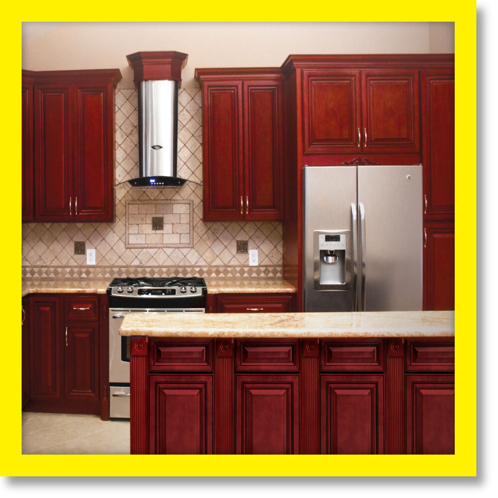 Cherryville All Wood Kitchen Cabinets Cherry Stained