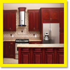 10x10 Kitchen Designs Antique Metal Cabinet Cherryville All Wood Cabinets, Cherry Stained ...