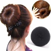 black hair styles with donut updo