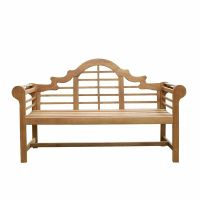 NEW Patio Porch Solid Teak Wood Lutyens Bench Chair 5 ...