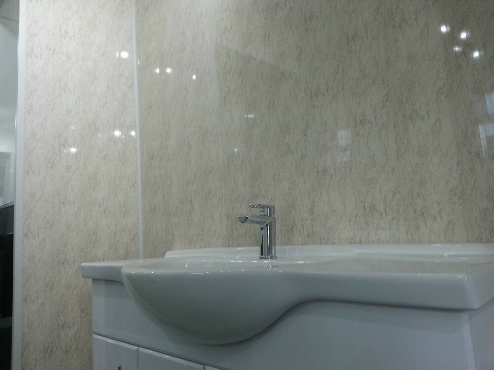9 Beige Granite Bathroom Wall Panels Decor Cladding