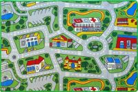 CITY ROADS Kids Rug 5 SIZES Childrens Car Play Mat Streets ...