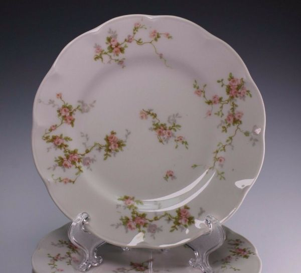 Haviland Limoges France 4 Salad Plate Plates H465 Pink
