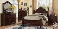 NEW! Chanelle King Size Bed Set, 6 pc Traditional Cherry ...