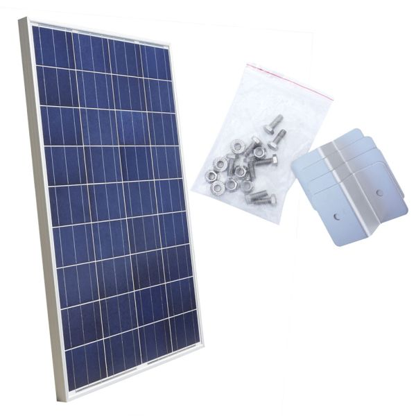 100watt Solar Panel With Mounting Kit 100w 12v Build Home Roof System