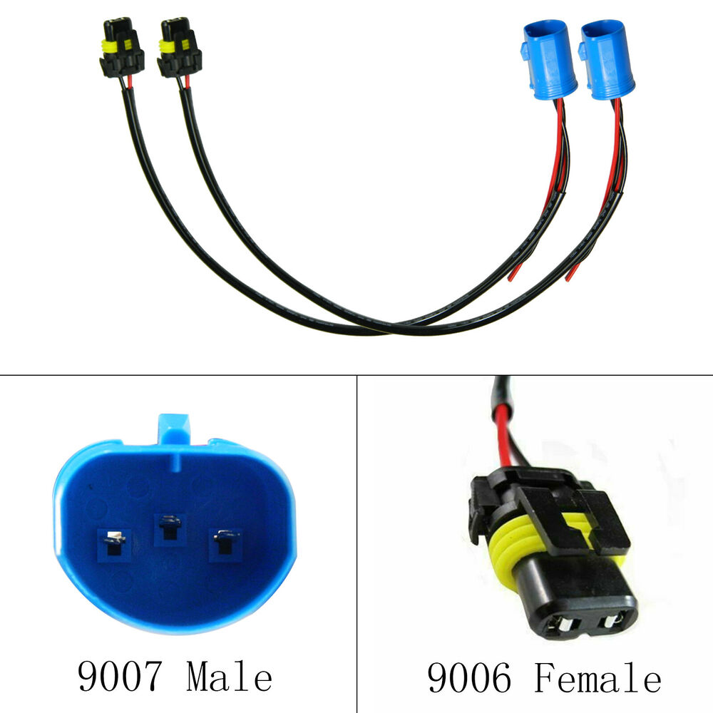 hight resolution of 9004 9007 wire harness for hid ballast to stock socket for 9007 vs 9004 wiring