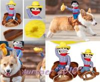 Cowboy Dog Riders Costume Pet Clothes Harness Dress Up ...