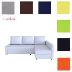 Ikea Manstad Sofa Bed Cover Dimension En L Custom Made Fits Friheten With Chaise ...