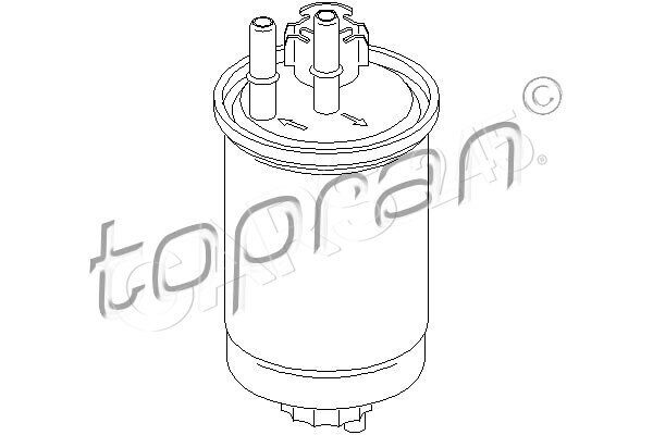 Inline Fuel Filter Fits FORD Focus Clipper Tourneo Transit
