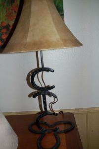 Horse shoe table lamp Western, South West, American ...