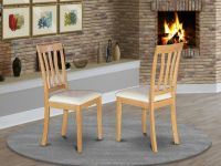 Set of 2 Antique dinette kitchen dining chairs leather ...