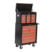 HOMCOM Tool Chest Cart Box Rolling Toolbox Case Cabinet ...