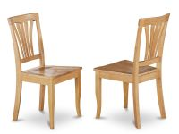 Set of 2 Avon dinette kitchen dining chairs with plain ...