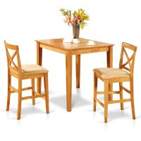 3pc counter height pub set 36x36 table + 2 bar stool ...