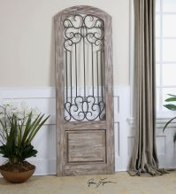 Tall Spanish Architectural Door Wood Iron Art | Wall Floor ...