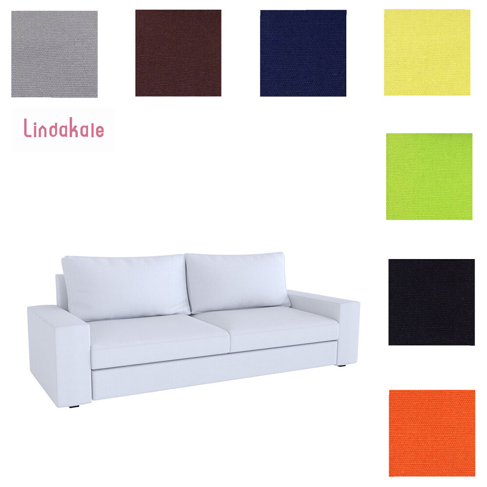 karlstad 3 seat sofa bed cover pull out ikea custom made fits kivik sofa, replace three ...