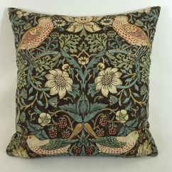Chair Covers In Ivory At End Of Bed William Morris Strawberry Thief Chocolate Slate Cushion Cover 16