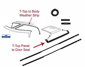 81 82 83 84 85 86 87 88 MUSTANG WEATHERSTRIPPING 9 PIECE T