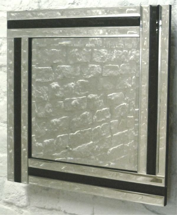Large Silver Framed Wall Mirror
