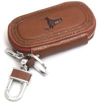 Universal Car Smart Key Chain Leather Holder Cover Case ...