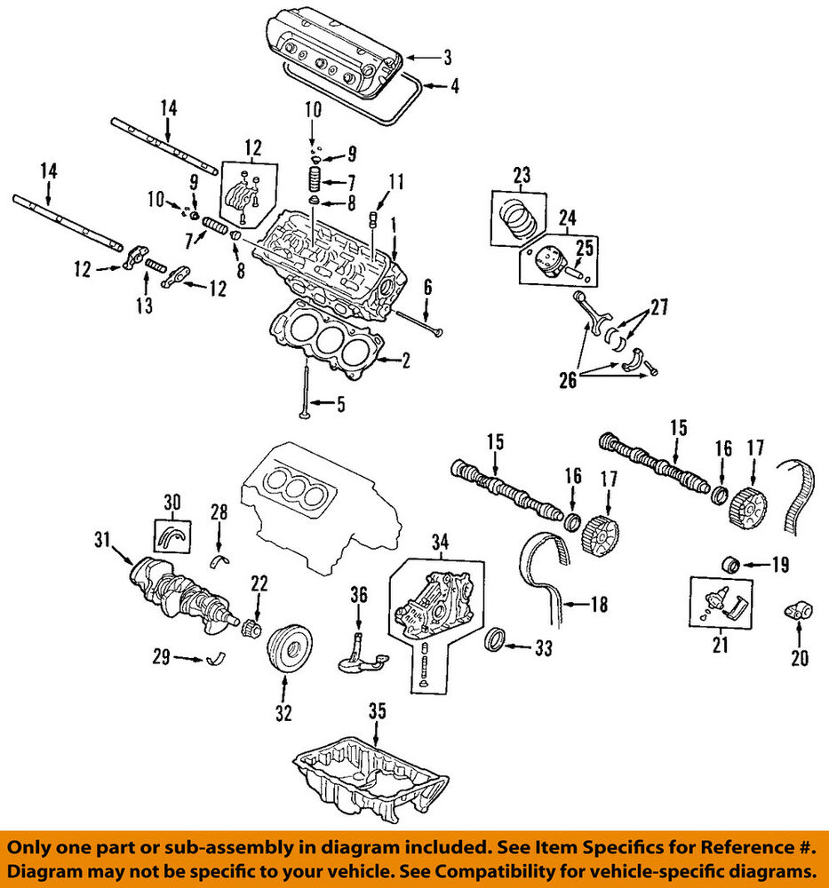 hight resolution of details about acura honda oem engine parts valve cover gasket right 12341rcaa01
