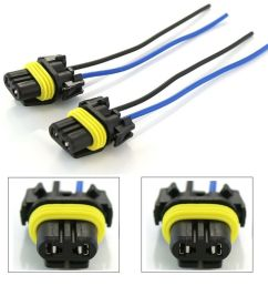 details about wire pigtail female plastic h10 9145 fog light two harness bulb connector plug [ 1000 x 827 Pixel ]