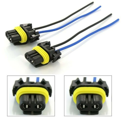 small resolution of details about wire pigtail female plastic h10 9145 fog light two harness bulb connector plug