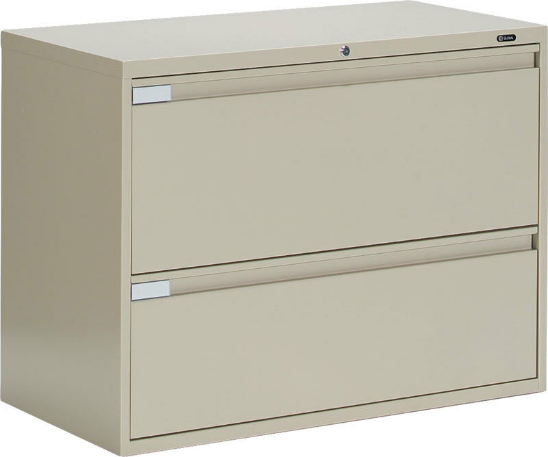 Global Metal 2 Drawer Office Lateral File Cabinet 42 Wide