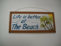Life Is Better At the Beach Palm Tree Tropical Wooden Wall ...