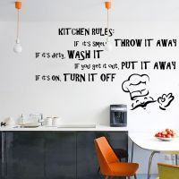 Vinyl Wall Decal Quote Kitchen Rules, Dining Room Text