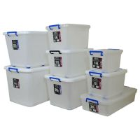 Plastic Storage Box Clear Boxes with Lids Clip Locking ...