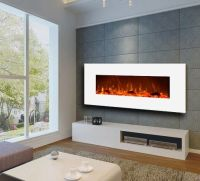 Large Electric Wall Mount Fireplace Modern Realistic Fire ...