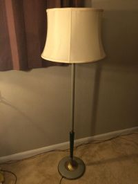 Vintage Torchiere Floor Lamp Rembrandt Art Decor Milk ...