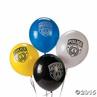 Police Party Balloon Assortment Decorations 12PC LOT ...