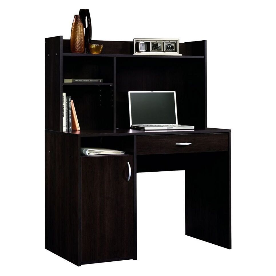 Computer Desk w Hutch Wood Small Cherry Home Office Kids