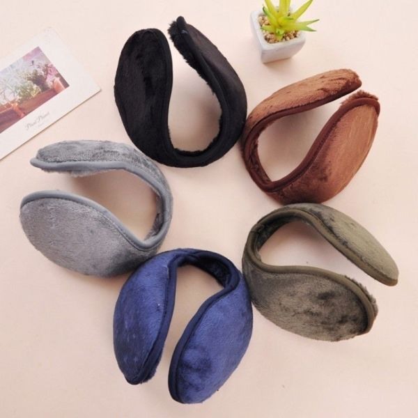 Women Men Winter Warm Fleece Ear Muffs Plush Warmer