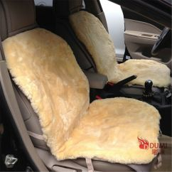 Black Chair Covers Ebay Fisher Price Space Saver High Cover 2pcs Warm Winter Front Car Real 100% Sheepskin Short Wool Seat Cushion |
