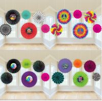 Decade Party PAPER FAN HANGING DECORATIONS (50s/60s/70s ...