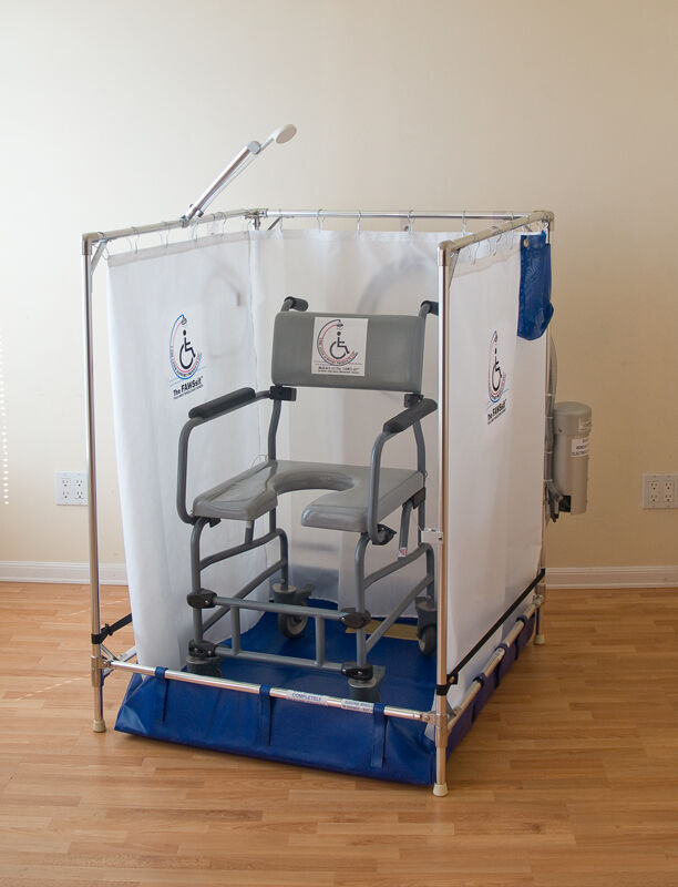 folding chair with footrest covers by hana ada approved portable wheelchair shower stall for handicapped (10-year warranty) | ebay