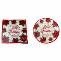 Christmas Party Set- Paper Plates & Napkins- Dinner, Merry ...