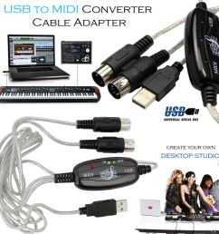 midi to usb wiring diagram usb to midi cable keyboard adapter for piano interface pc [ 1000 x 1000 Pixel ]